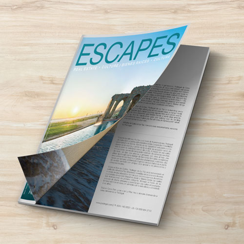 diseño editorial escapes magazine